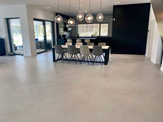 microcement floor Resistone